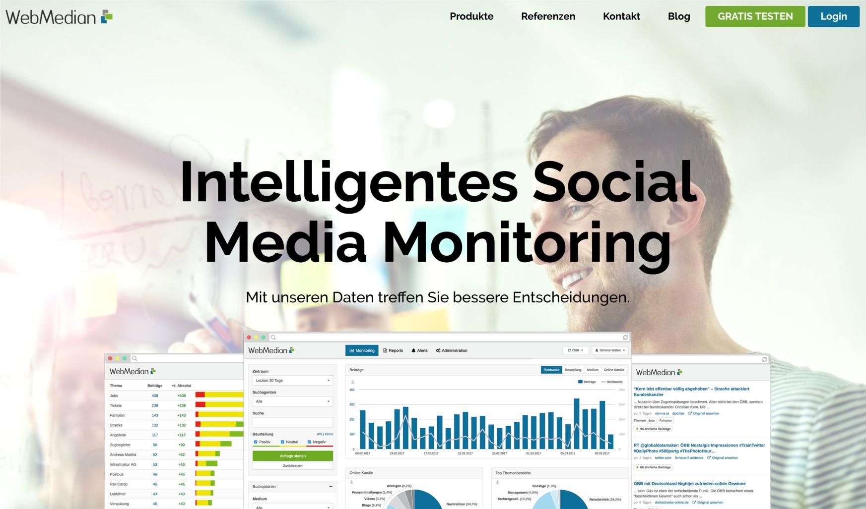webmedian social media monitoring